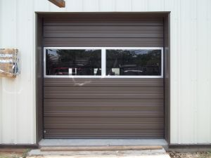 Commercial Sectional Door with Glass