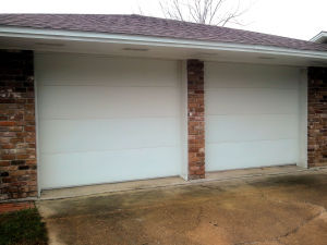 Flush Panel Residential Garage Door