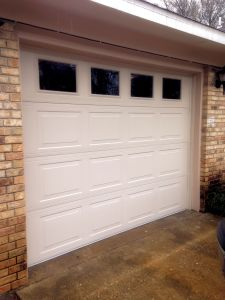 Residential Garage Door with Glass