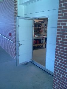 Commercial Sectional Door with Pass Door