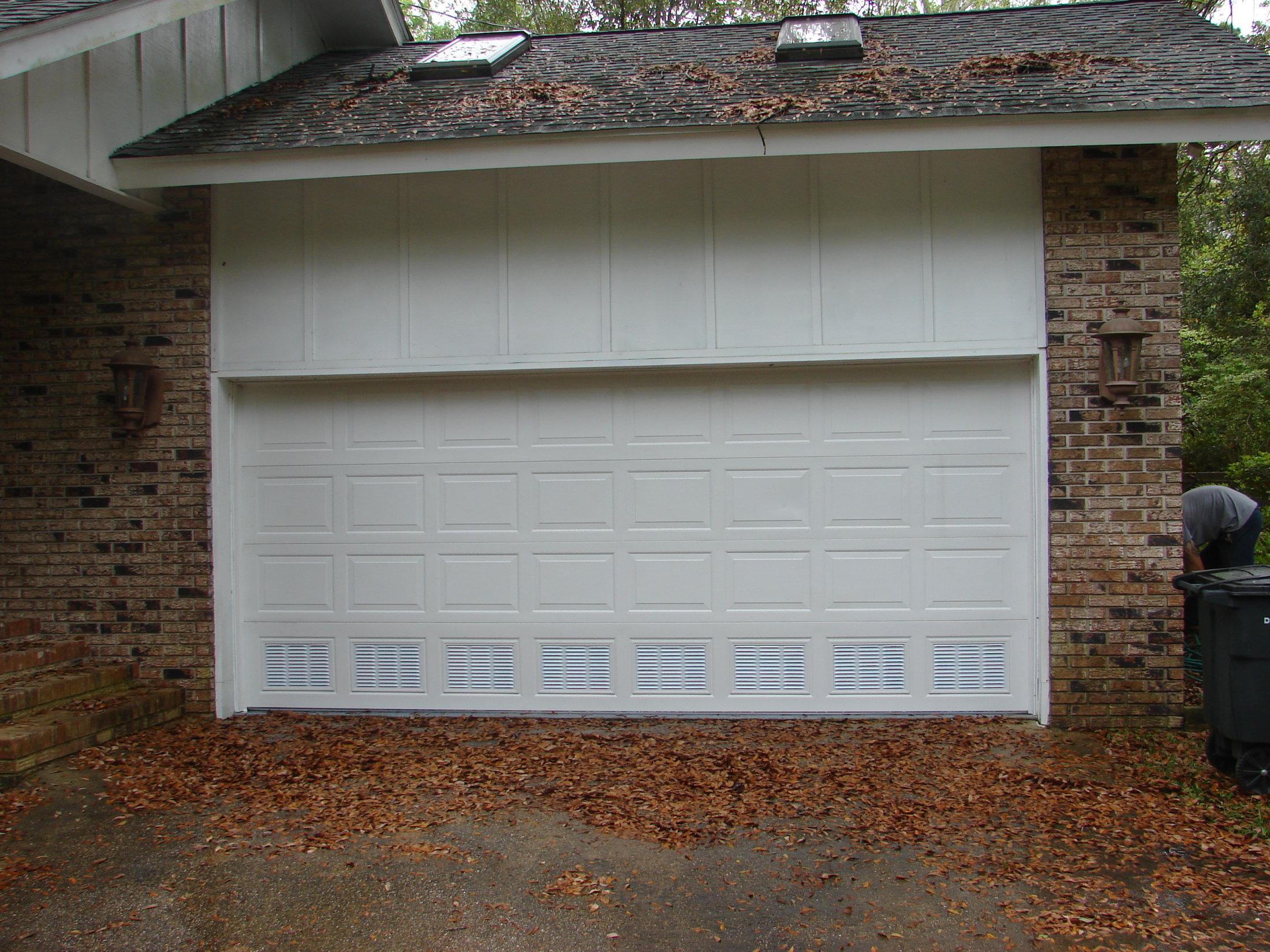 Residential Garage Door With Flood Vents Overhead Garage Doors By Doorways Inc