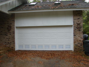 Residential Garage Door with flood vents