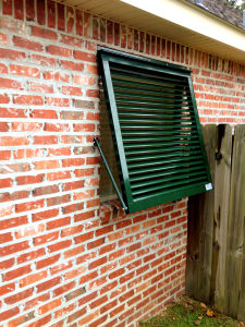 Bahama Shutter With Pivoting Blades