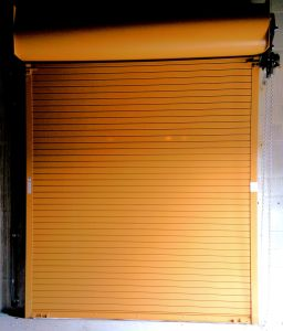 Custom Orange Commercial Door