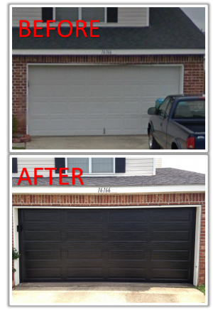 Custom black color Ranch panel door