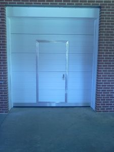 Commercial Sectional Door with Pass Door