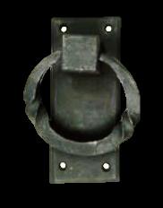 Ring Door Knocker with Plate